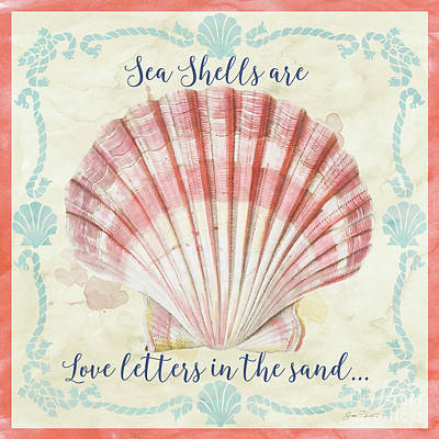 Digital Art - Sea Shells-a by Jean Plout