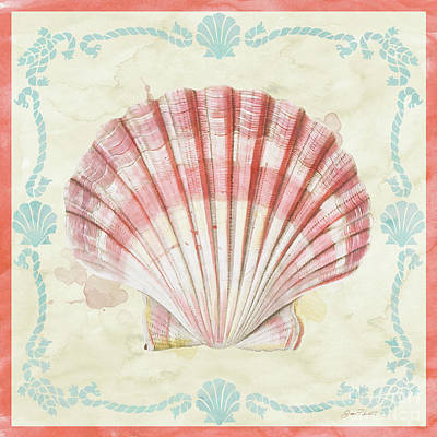 Digital Art - Sea Shells-a2 by Jean Plout