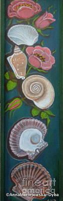 Painting - Sea Shells by Anna Folkartanna Maciejewska-Dyba