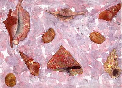 Painting - Sea Shells by Annemeet Hasidi- van der Leij
