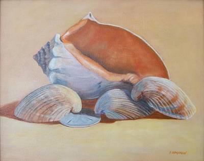 Sea Shells Art Print by Betty Henderson