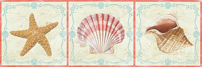 Painting - Sea Shells-e2 by Jean Plout