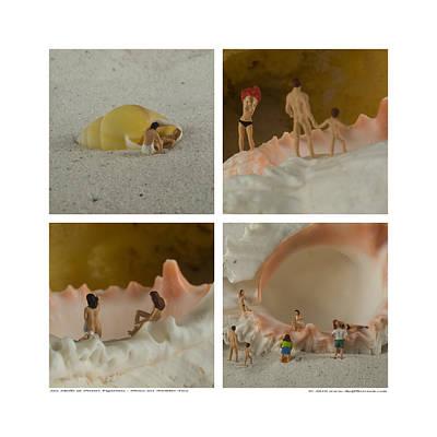 Sea Shells With Preiser Figurines Number Two Art Print by Rolf Bertram