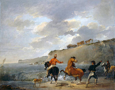 Painting - Sea Shore With Rearing Horse by Francis Bourgeois