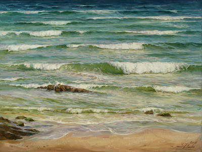 Painting - Sea Symphony. Part 1. by Serguei Zlenko