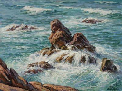 Painting - Sea Symphony. Part 3. by Serguei Zlenko