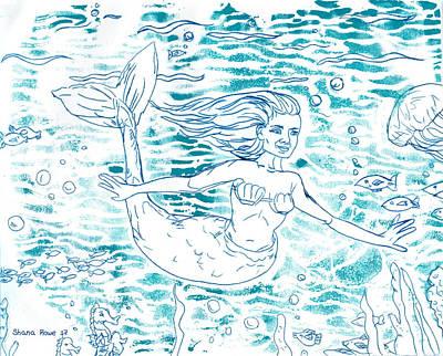 Mixed Media - Sea Siren by Shana Rowe Jackson