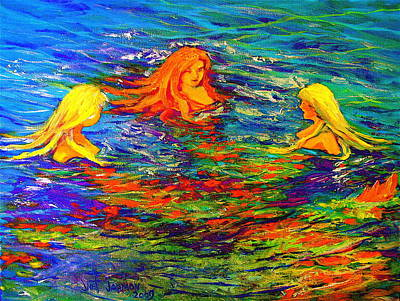 Painting - Sea Sisters Revisited by Jeanette Jarmon