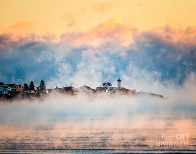 Photograph - Sea Smoke At Nubble Light by Susan Cole Kelly