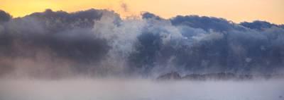 Photograph - Sea Smoke At Owls Head Panorama by John Meader