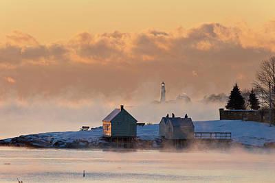 Photograph - Sea Smoke by Ed Fletcher