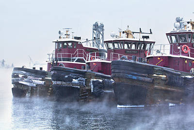 Photograph - Sea Smoke In Portsmouth Harbor by Eric Gendron