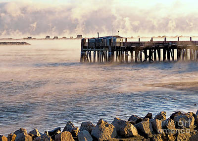 Photograph - Sea Smoke Plymouth Ma by Janice Drew