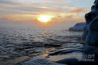Photograph - Sea Smoke Sunrise by Sandra Updyke