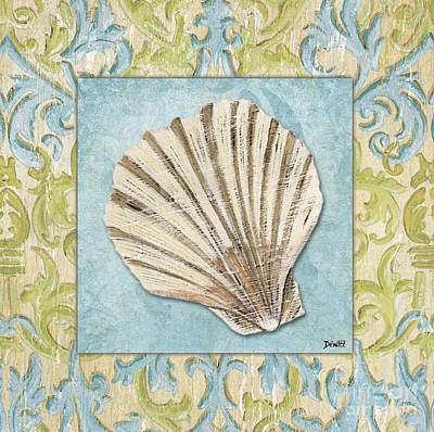 Shell Painting - Sea Spa Bath 1 by Debbie DeWitt