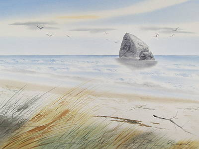 Painting - Sea Stack 3 by Richard Schoessow