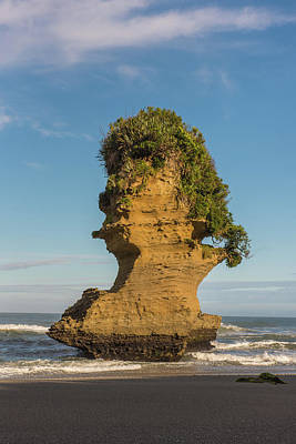 Photograph - Sea Stack, Punakaiki Beach by Gary Eason