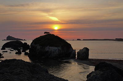 Photograph - Sea Stack Sunset by Harold Rau