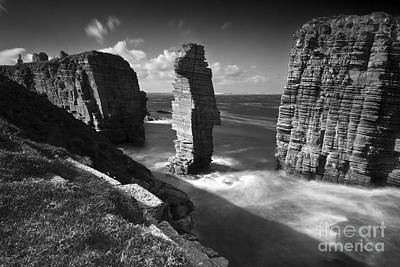 Photograph - Sea Stacks At Castle Sinclair Girnigoe by Roddy Atkinson