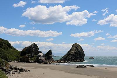 Photograph - Sea Stacks At Harris Beach  by Christy Pooschke