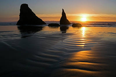 Photograph - Sea Stacks by Inge Riis McDonald