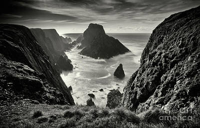 Photograph - Sea Stacks Wide Angle   by Ciaran Craig