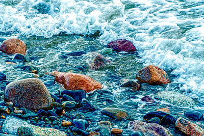 Photograph - Sea Stoneas by Lilia D