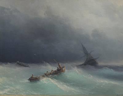 Sea Storm 1873  Art Print