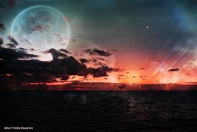 Photograph - Sea Sunset Cloud Art by John Potts