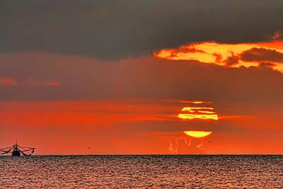 Photograph - Sea Sunset by Nadia Sanowar