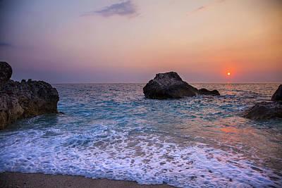 Lefkada Photograph - Sea Sunset On Greek Island by Sandra Rugina