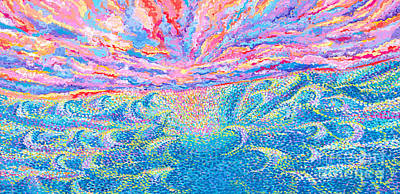 Painting - Sea Swell Sunset by Expressionistart studio Priscilla Batzell