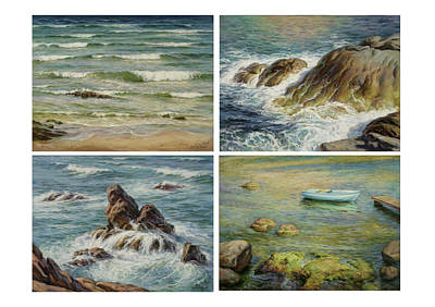 Painting - Sea Symphony. Part 1,2,3,4. by Serguei Zlenko