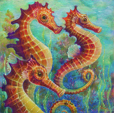 Painting - Sea Trio by Lynn Bywaters