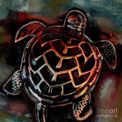 Digital Art - Sea Turtle 001 by Gallery Messina