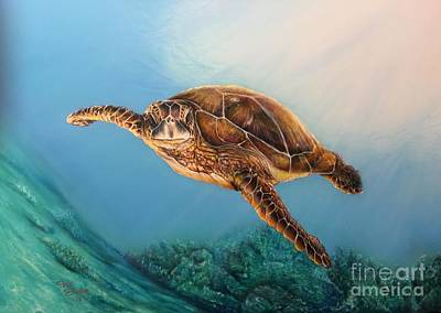Painting - Sea Turtle 1 by Pete Sintes