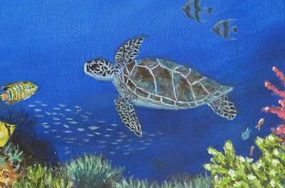 Painting - Sea Turtle 2 by Amelie Simmons