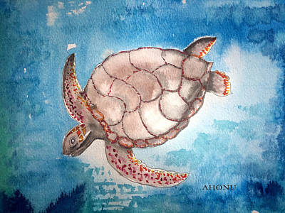 Painting - Sea Turtle by Ahonu