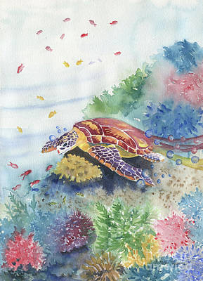 Painting - Sea Turtle And Friends by Melly Terpening