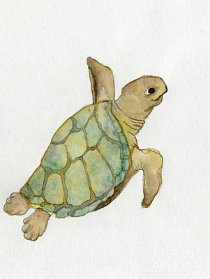 Painting - Sea Turtle by Annemeet Hasidi- van der Leij