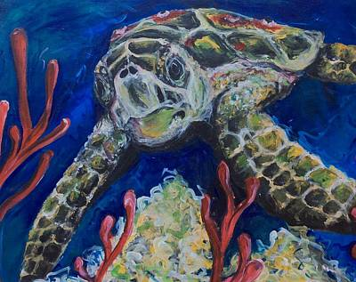 Painting - Sea Turtle by Ashley Martinez