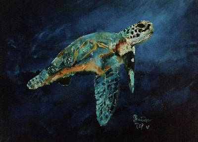 Painting - Sea Turtle by Barbie Batson