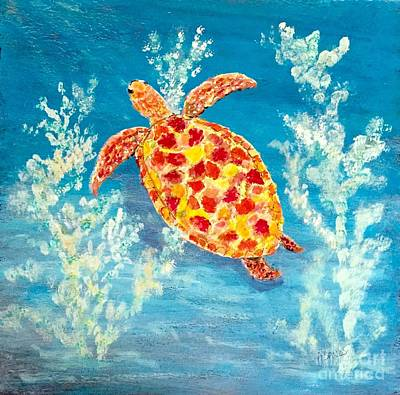 Painting - Sea Turtle Beauty by Anne Sands