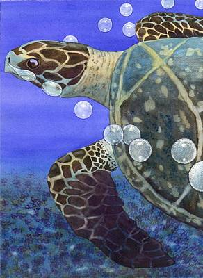Sea Turtle Art Print by Catherine G McElroy
