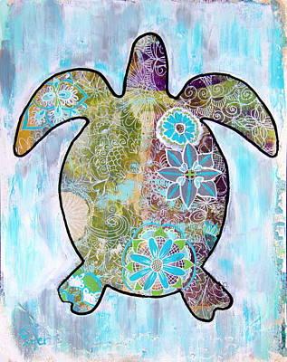 Wall Art - Painting - Sea Turtle Doodle by Carol Iyer