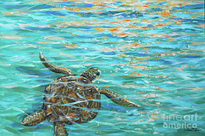 Painting - Sea Turtle Dream by Linda Olsen