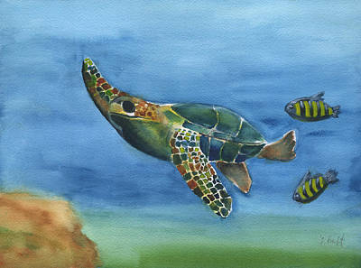 Painting - Sea Turtle by Frank Bright