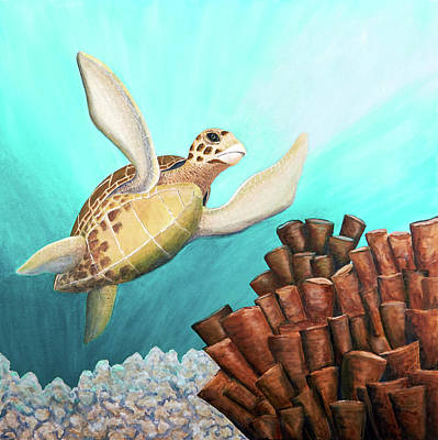 Painting - Sea Turtle Joy by Patricia Beebe