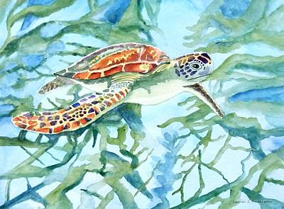 Painting - Sea Turtle Series #1 by Laurie Anderson