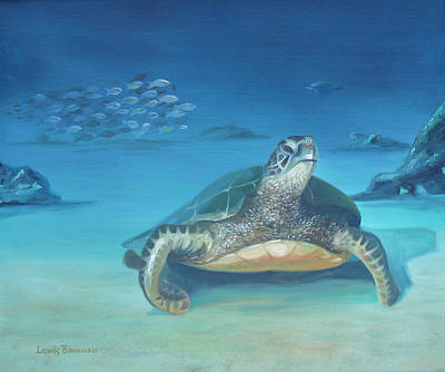 Painting - Sea Turtle by Lewis Bowman